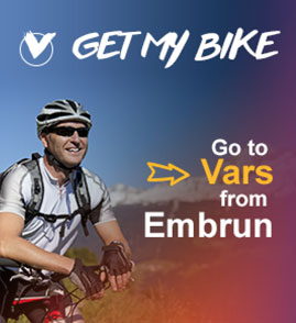 Get my Bike and go to Vars from Embrun