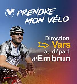 Prendre mon vélo direction Vars au dépard d'Embrun