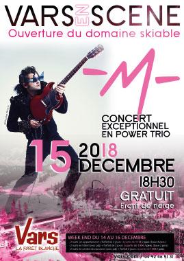 Concert de M à VARS